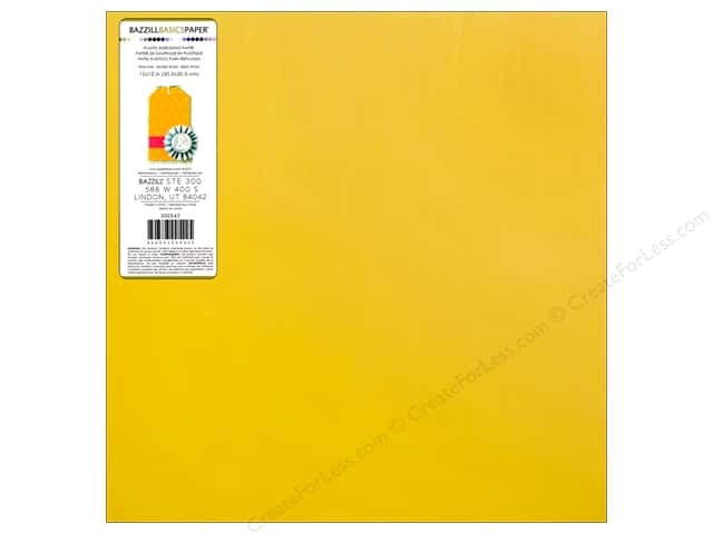 Bazzill 12 x 12 in. Plastic Embossing Sheet Buttercup (15 sheets)