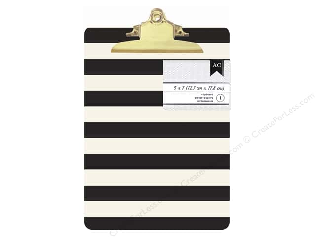 American Crafts Clipboard Mini Black & White Stripes
