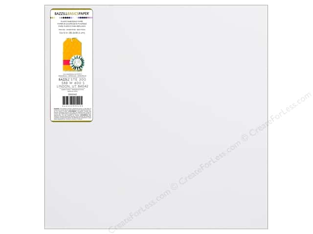 Bazzill 12 x 12 in. Plastic Embossing Sheet Snowball (15 sheets)