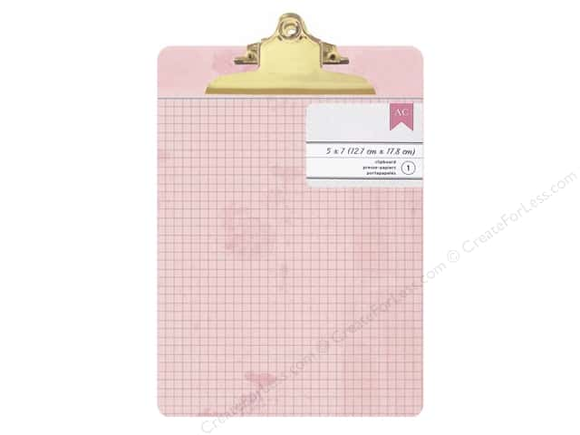 American Crafts Clipboard Mini Pink Vintage Ledger