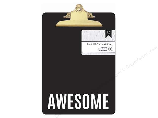 American Crafts Clipboard Mini Black & White Awesome
