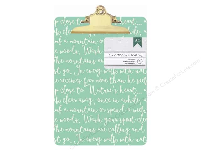American Crafts Clipboard Mini Green Script