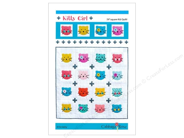 Cabbage Rose Kitty Girl Quilt Pattern