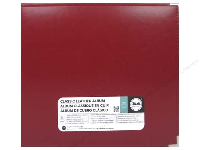 We R Memory Keepers Classic Leather 3-Ring Album 12 x 12 in. Real Red