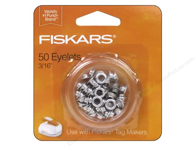 "Fiskars Eyelet 3/16"" Tag Maker Silver 50pc"