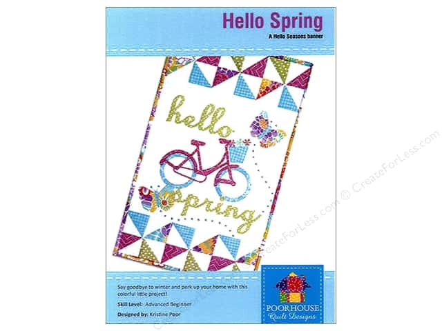 Poorhouse Quilt Designs Hello Seasons Spring Banner Pattern