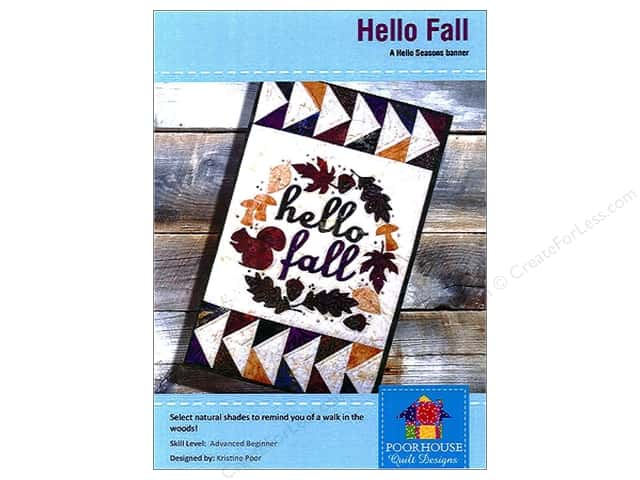 Poorhouse Quilt Designs Hello Seasons Fall Banner Pattern