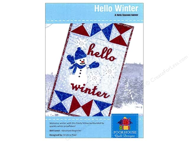 Poorhouse Quilt Designs Hello Seasons Winter Banner Pattern