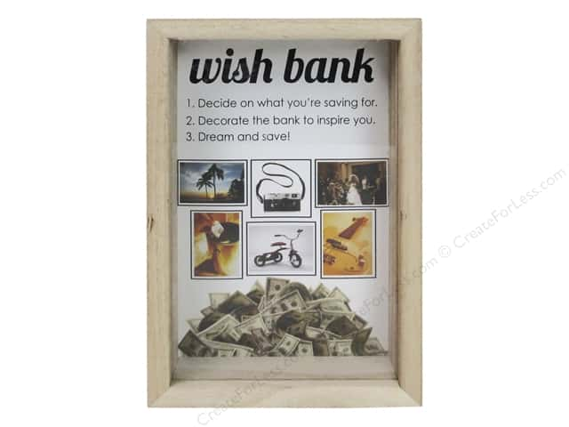 Sierra Pacific Crafts Wood Shadow Frame with Money Slot Unfinished (36 pieces)
