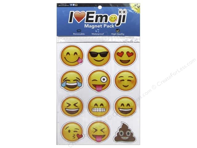 Everything Emoji Magnet Pack 24pc Assorted