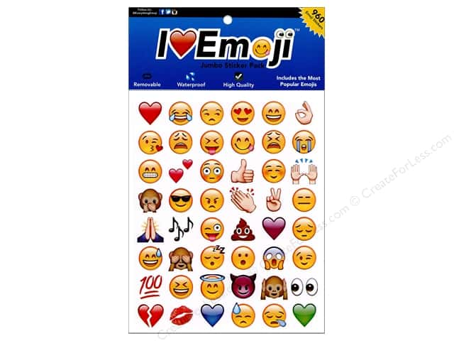 Everything Emoji Sticker Jumbo 960pc Assorted