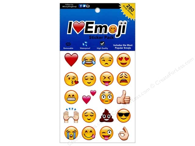 Everything Emoji Sticker Medium 280pc Assorted