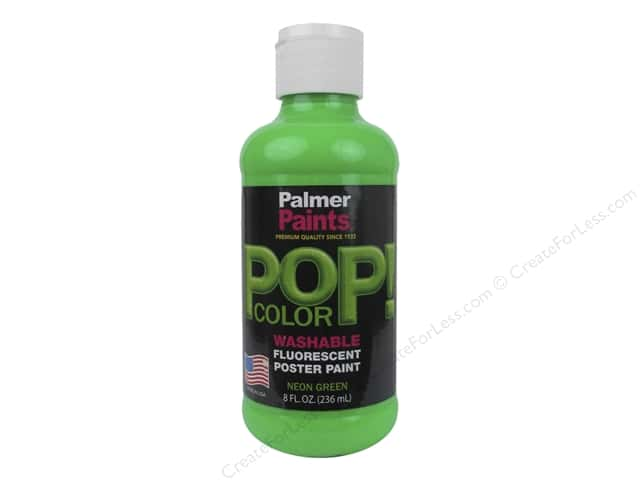Palmer Poster Paint Washable 8oz POP Neon Green