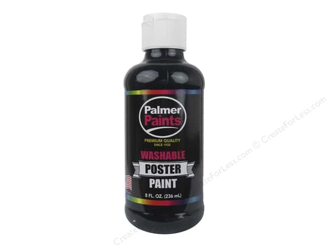 Palmer Washable Poster Paint 8 oz. Black