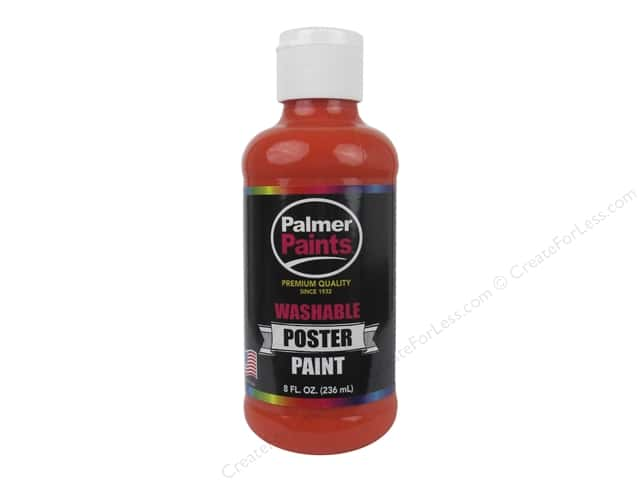Palmer Washable Poster Paint 8 oz. Orange