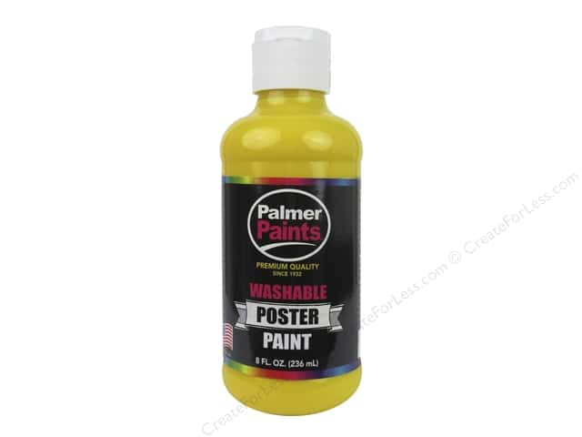 Palmer Washable Poster Paint 8 oz. Yellow