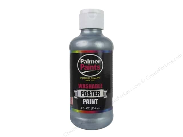 Palmer Washable Poster Paint 8 oz. Silver