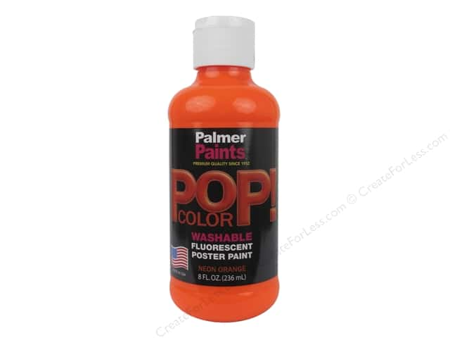 Palmer Poster Paint Washable 8oz POP Neon Orange
