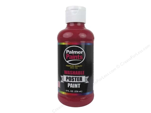 Palmer Washable Poster Paint 8 oz. Red
