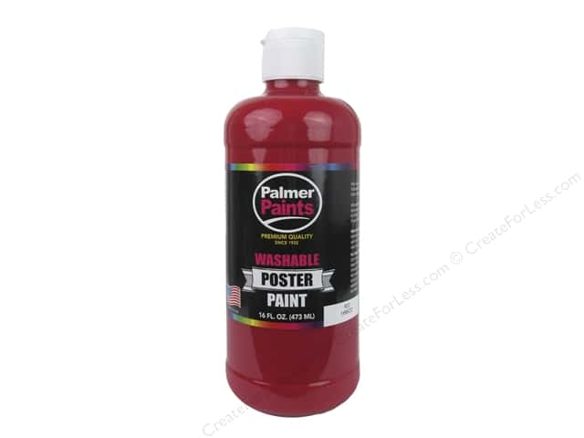 Palmer Washable Poster Paint 16 oz. Red