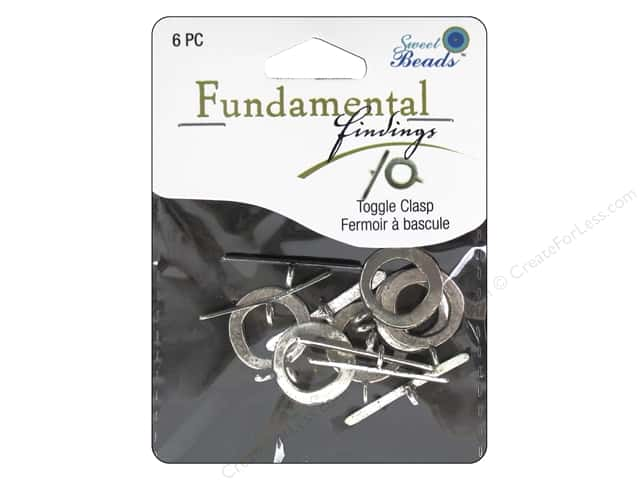 Sweet Beads Fundamental Finding Toggle Clasp 3/4 in. Antique Silver 6 pc.