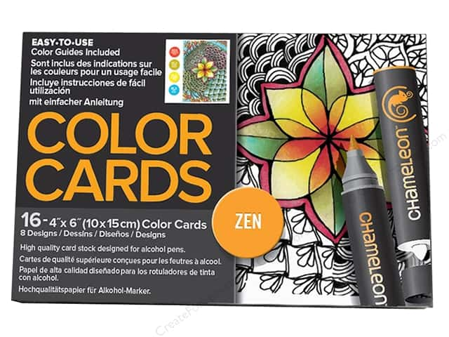 Chameleon Color Cards 4 x 6 in. Zen 16 pc.