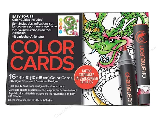 Chameleon Color Cards 4 x 6 in. Tattoo 16 pc.