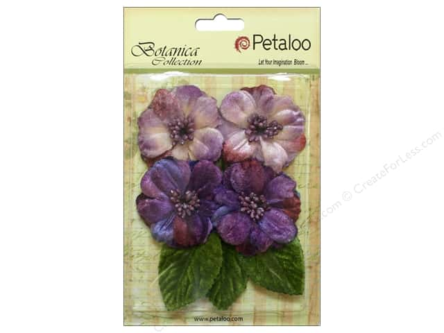 Petaloo Botanica Collection Vintage Velvet Peonies Purple/Lavender