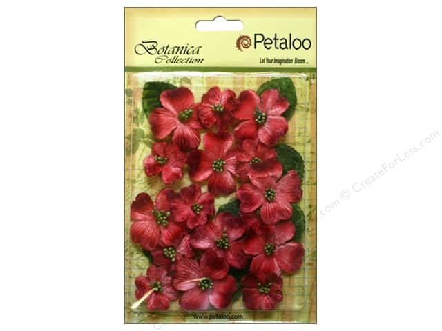 Petaloo Botanica Collection Vintage Velvet Dogwood Red