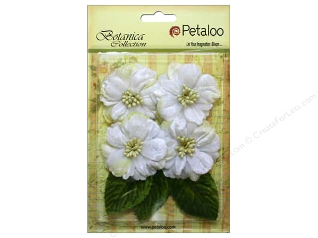 Petaloo Botanica Collection Vintage Velvet Peonies White