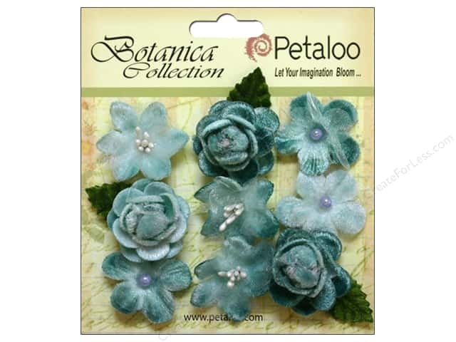 Petaloo Botanica Collection Vintage Velvet Minis Teal