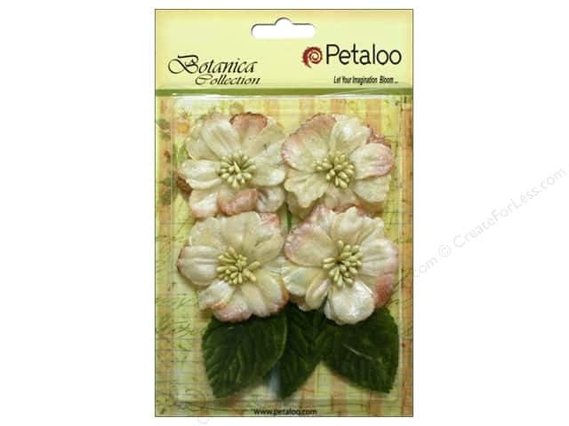 Petaloo Botanica Collection Vintage Velvet Peonies Ivory