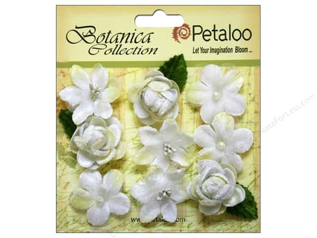 Petaloo Botanica Collection Vintage Velvet Minis White