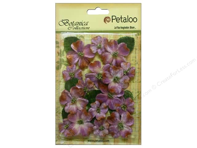 Petaloo Botanica Collection Vintage Velvet Dogwood Lavender
