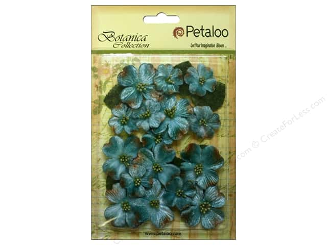 Petaloo Botanica Collection Vintage Velvet Dogwood Teal