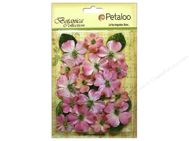 Petaloo Botanica Collection Vintage Velvet Dogwood Pink