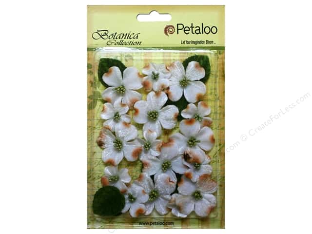 Petaloo Botanica Collection Vintage Velvet Dogwood White
