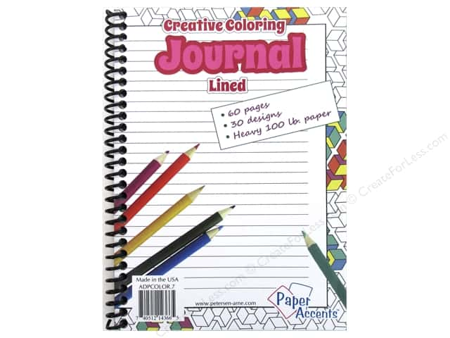 Paper Accents Creative Coloring Journal 5 x 7 in. Lined