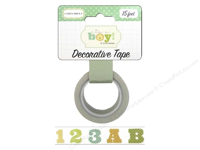 Carta Bella Decorative Tape It's A Boy ABC123