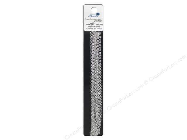 Sweet Beads Fundamental Finding Rolo Chain 48 in. Silver