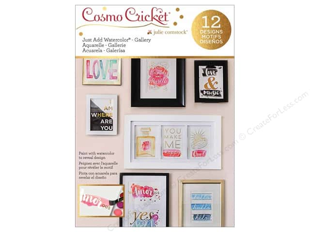 Cosmo Cricket Just Add Watercolor Gallery Art Deck