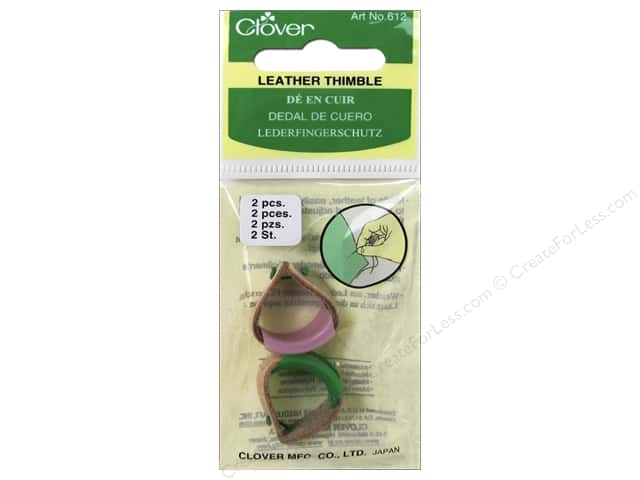 Clover Leather Thimbles 3 pc.