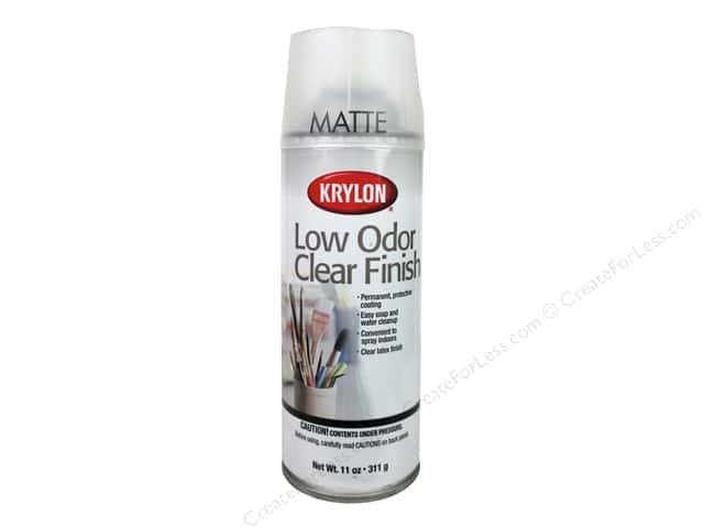 Krylon Low Odor Clear Finish 11 oz. Matte