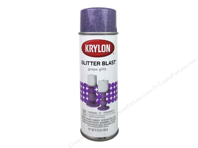 Krylon Glitter Blast Spray Paint 5.75 oz. Grape Glitz