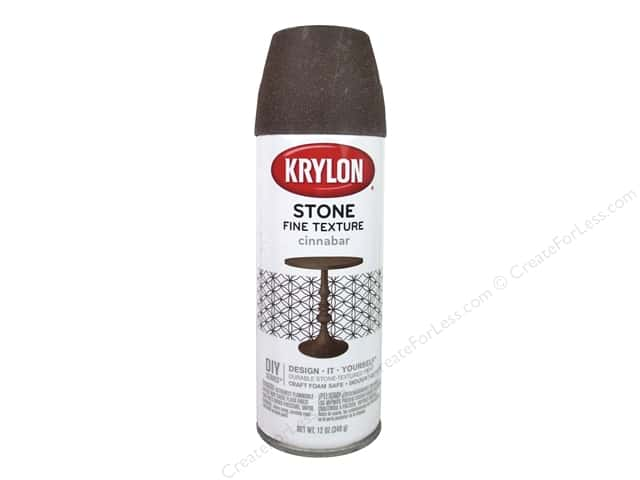Krylon Natural Stone Paint 12 oz. Cinnabar