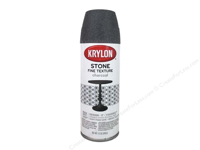 Krylon Natural Stone Paint 12 oz. Charcoal