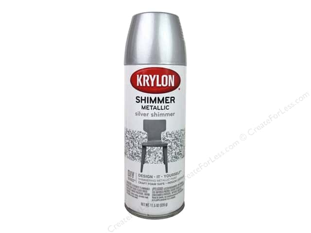 Krylon Shimmer Metallic Spray Paint 11.5 oz. Silver