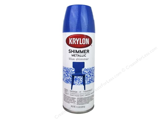 Krylon Shimmer Metallic Spray Paint 11.5 oz. Blue