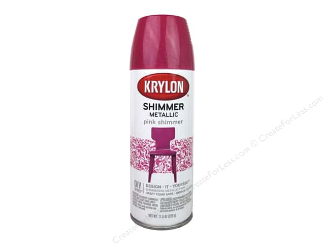 Krylon Shimmer Metallic Spray Paint 11.5 oz. Pink