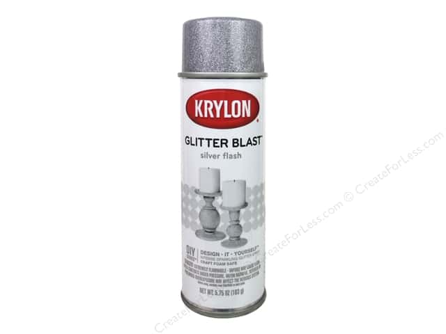 Krylon Glitter Blast Spray Paint 5.75 oz. Silver Flash